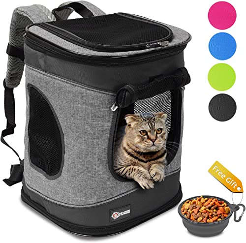 Tirrinia Pet Carrier Backpack for Cats and Dogs up to 15 LBS Airline-Approved Travel Carrier for Pets Hiking, Walking, Cycling Outdoor Use 16 H x13.2 L x12