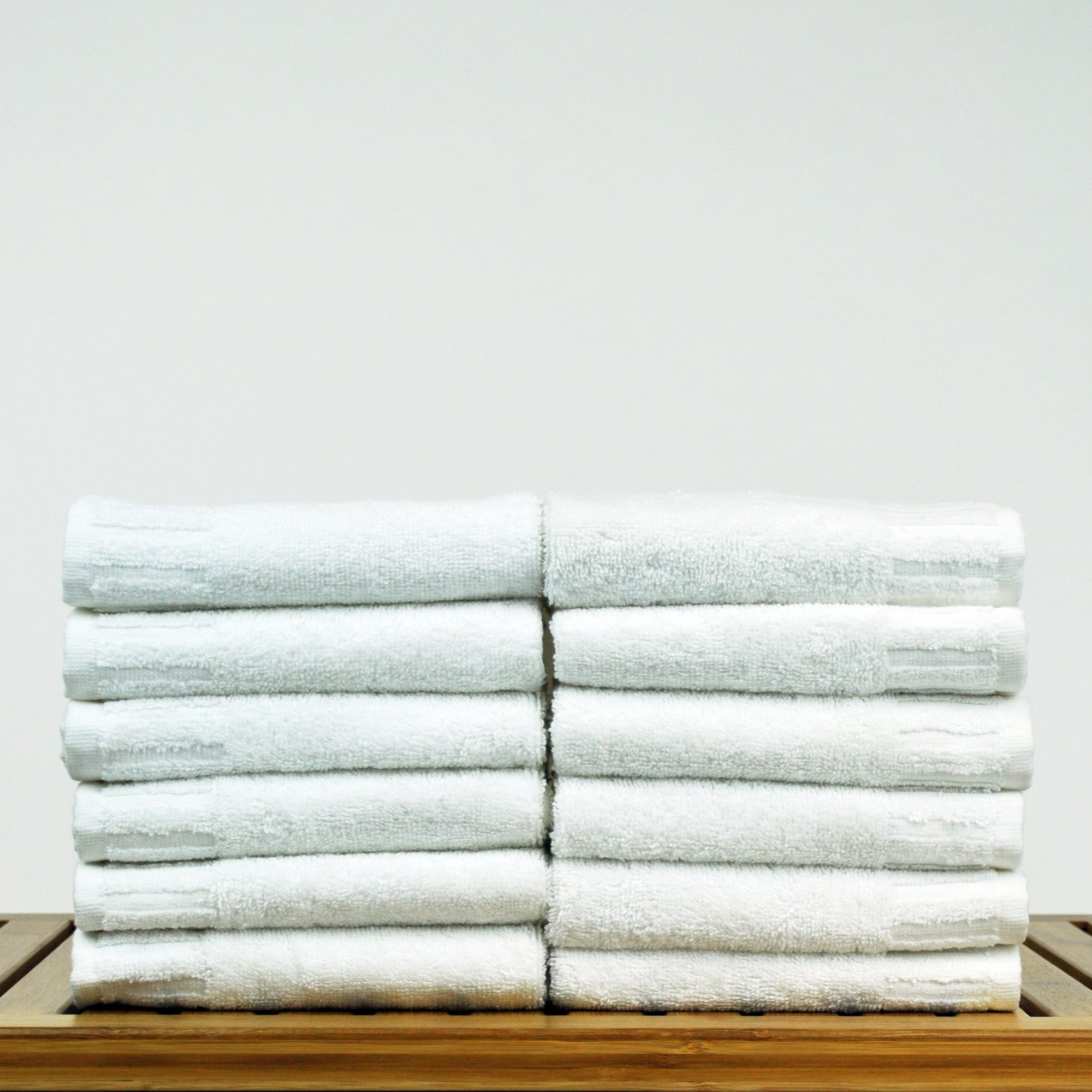 Bare Cotton Luxury Hotel & Spa Towel Turkish Cotton Wash Cloths,White, Piano, Set of 12 by BC BARE COTTON (Image #2)