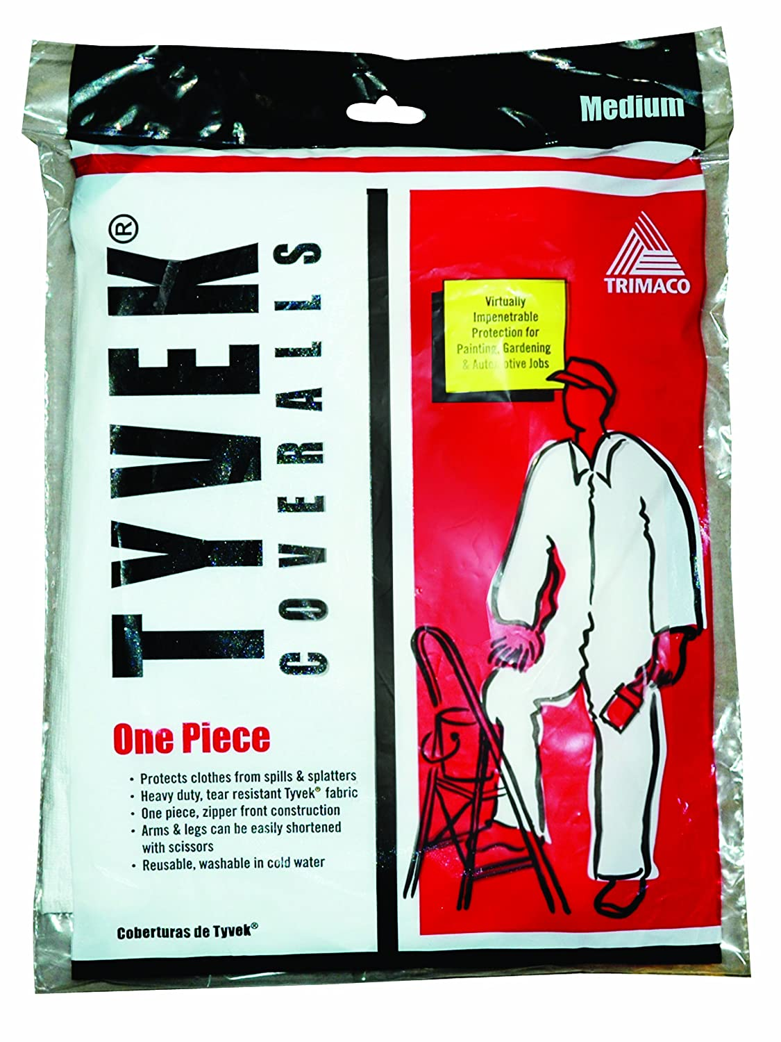Trimaco 450-544 Painter's Tyvek HD Heavy-Duty Coveralls, White Paint Sundries Solutions 047034141248