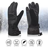 Solaris Ski Gloves, Winter Warm 3M Insulation Outdoor Windproof Snow Gloves for Women, Youth, Kid, Skiing, Snowboarding, Motorcycling, Cycling, Great Gift Idea
