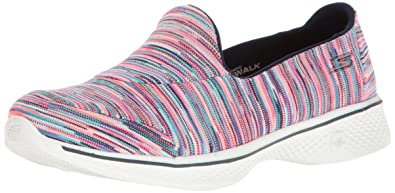 Skechers Go Walk 4 Today Womens Slip On Walking Shoes Hot Pink/Multi 8 BihjB