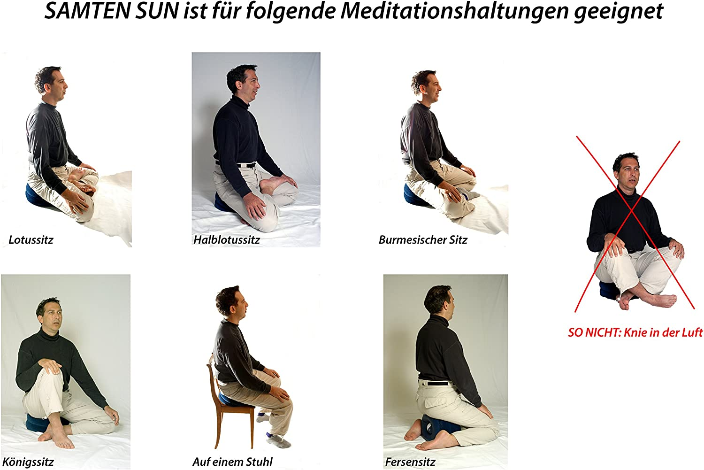 SAMTEN Sun: el cojín de meditación de Viaje, Inflable y Redondo ...