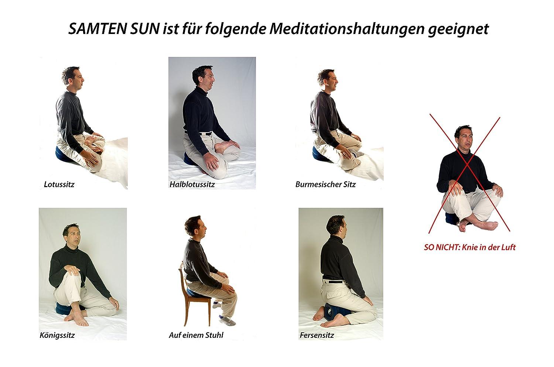 SAMTEN Coussin de méditation de Voyage Gonflable Rond Sun de2ea4a9704