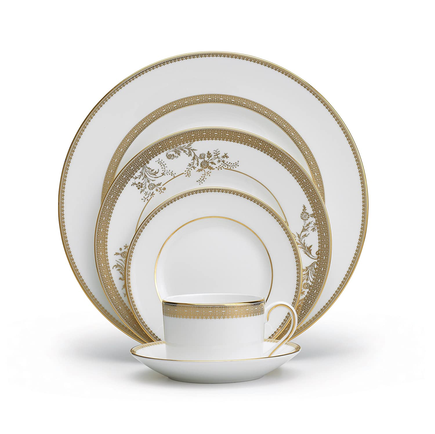 Wedgwood Vera Lace Gold 5-Piece Place Setting Service for 1