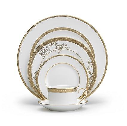 Vera Wang Wedgwood Vera Lace Gold 5-Piece Dinnerware Place Setting  sc 1 st  Amazon.com & Amazon.com | Vera Wang Wedgwood Vera Lace Gold 5-Piece Dinnerware ...