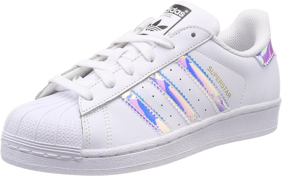 finest selection a2d67 033cd adidas Unisex-Kinder Superstar J Gymnastikschuhe, Weiß (FTWR White FTWR  White Metallic Silver-SLD), 35.5 EU  Amazon.de  Schuhe   Handtaschen