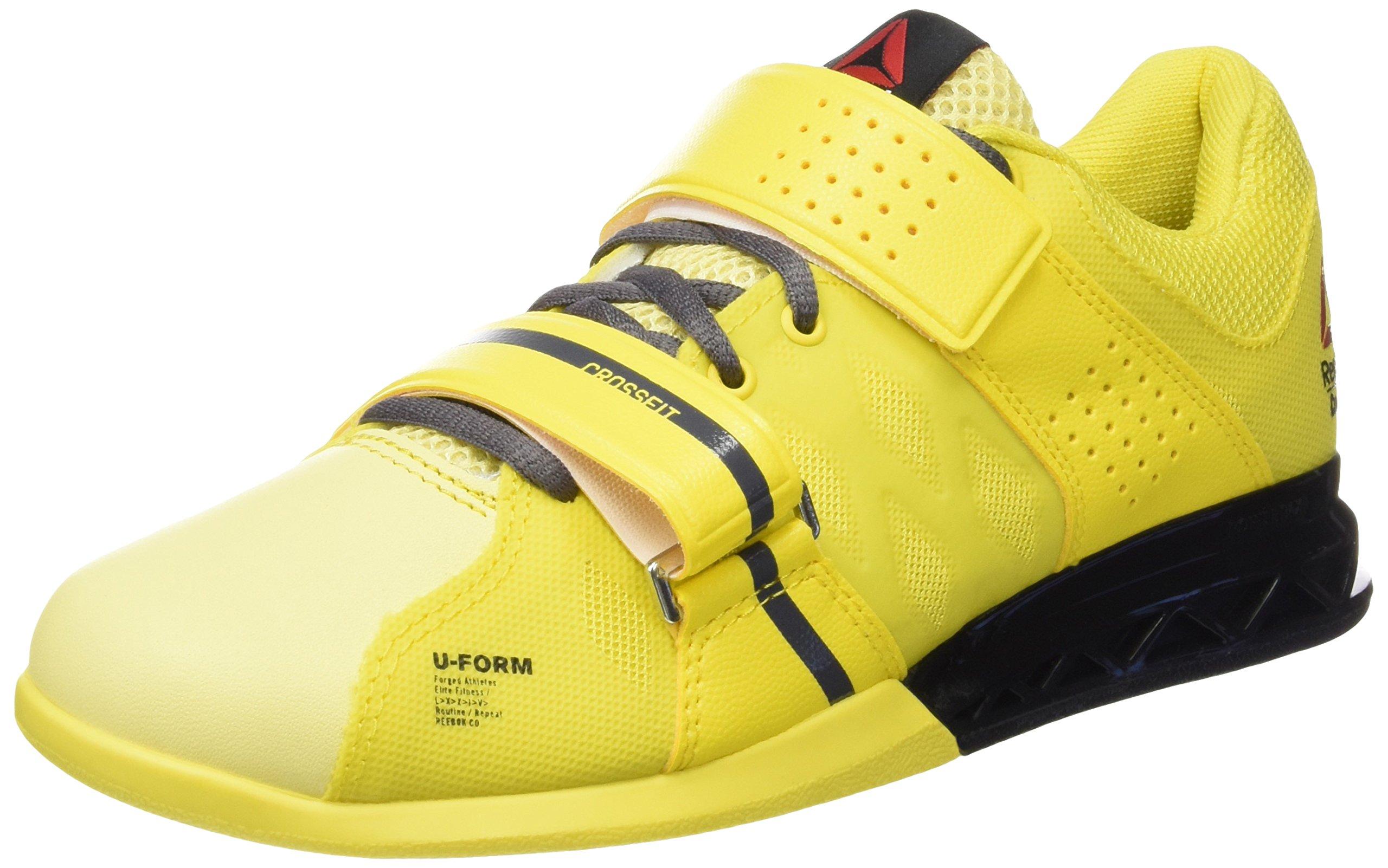 Reebok Crossfit Lifter Plus 2.0 Womens Running Trainers Sneakers (UK 5.5 us 8 EU 38.5, yellow grey black V72386)