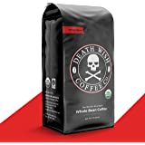 DEATH WISH COFFEE Whole Bean Coffee [16 oz.] The World's Strongest, USDA Certified Organic, Fair Trade, Arabica and Robusta B