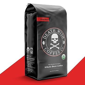 Death Wish Coffee Co. Whole Bean Dark Roast Coffee