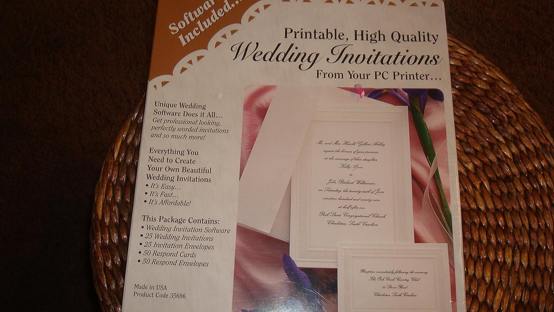 amazoncom wedding invitation kit software - Wedding Invitation Software