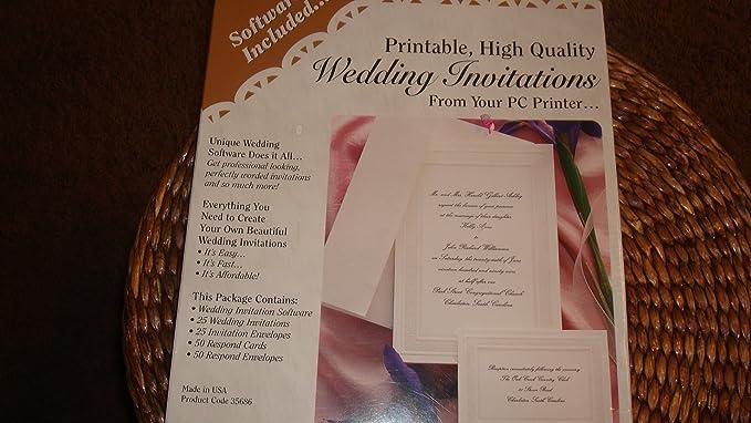 amazon com wedding invitation kit software