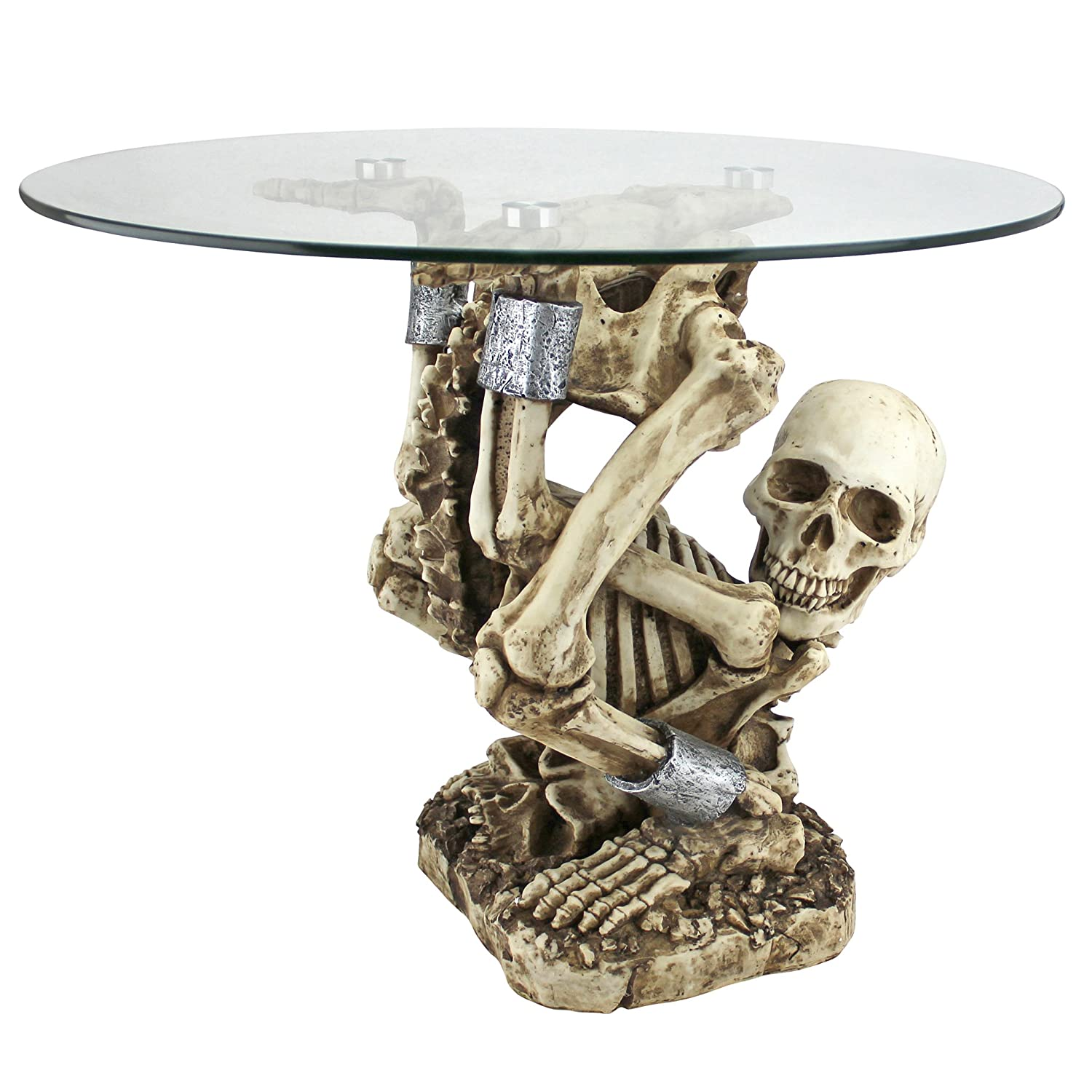 Amazoncom Design Toscano The Contortionist Skeleton Side Table
