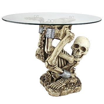 Design Toscano The Contortionist Skeleton Side Table