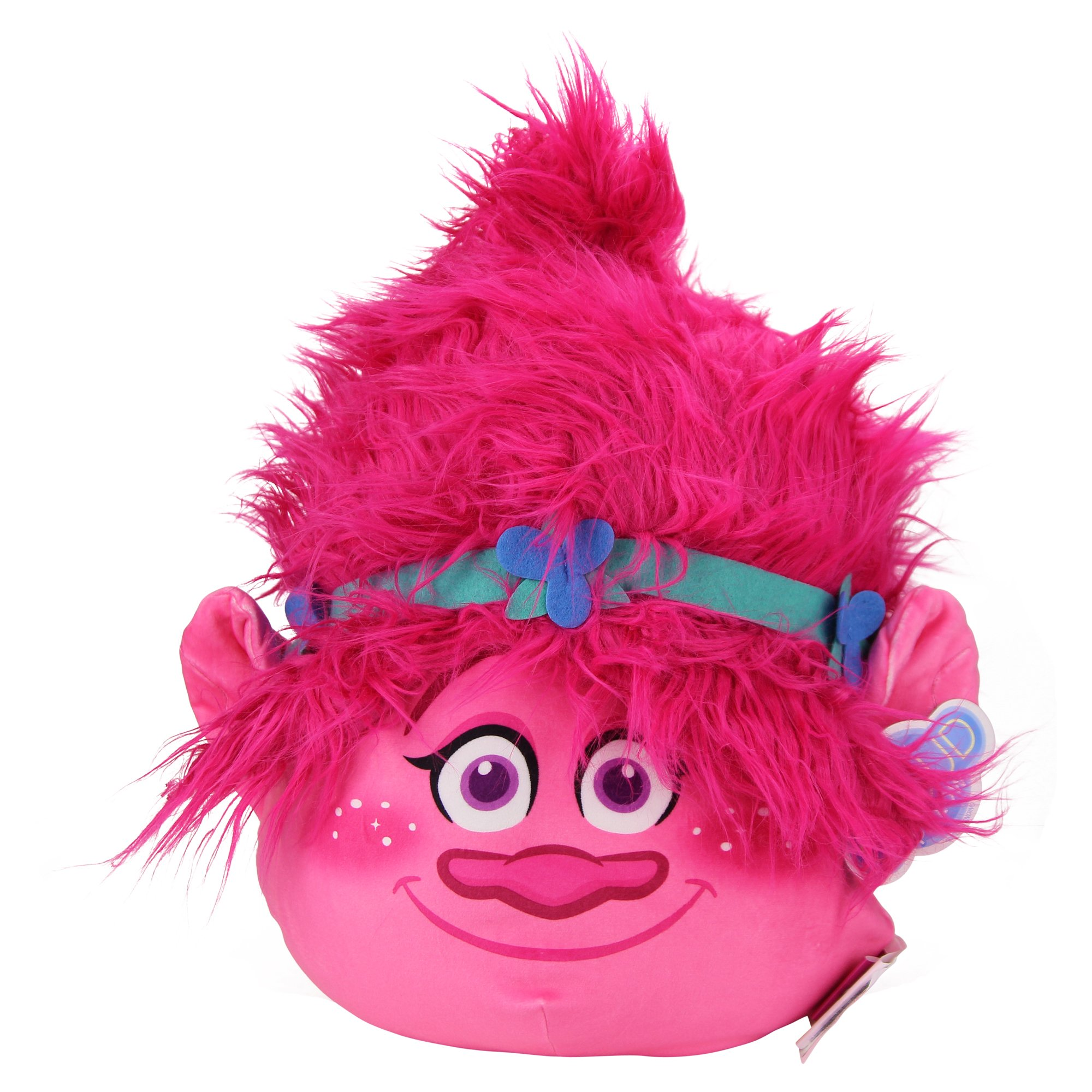 Northwest Kid's Character Travel Plush Pillow (Trolls (Poppy Pink)) by Northwest