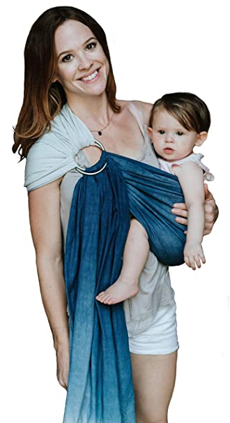 Luxury Ring Sling Baby Carrier Extra Soft Bamboo Linen Fabric Free Carry Bag For Newborns
