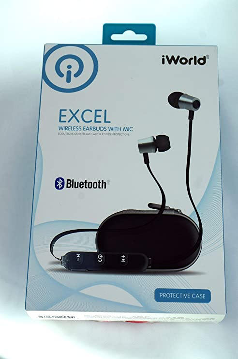 45acb3f32ab Amazon.com: Iworld Excel Wireless Earbuds with Mic Protective Case ...