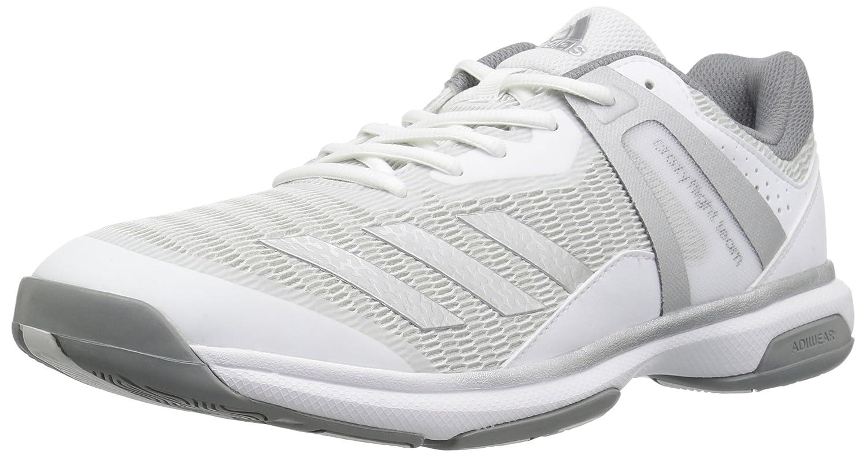 adidas Women's Crazyflight Team Volleyball Shoe B01MU0EEGX 8 M US|White/Metallic Silver/Grey Three