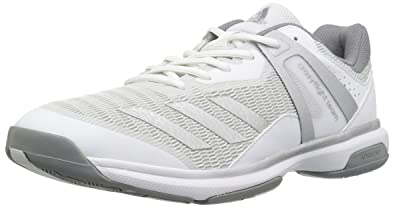 online retailer 94bf9 0628d adidas Womens Crazyflight Team W Cross Trainer, WhiteMetallic SilverGrey  Three,