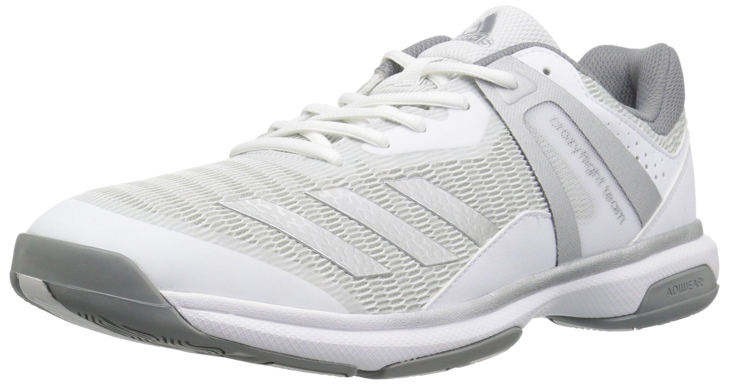 adidas Women's Shoes   Crazyflight Team Volleyball, White/Metallic Silver/Grey Three, (7 M US)