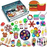 2021 adventskalender fidgets leksakspaket, jul nedräkningskalender 24 dagar billig populär bubbla sensorisk fidgetleksak…