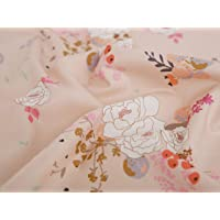 COTTONVILL Collection Cwtch 20COUNT Cotton Print Quilting Fabric (1yard, 01-Main Cream)