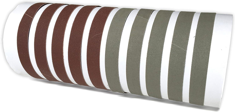 Red Label Abrasives 3/4 X 12 Inch 800/5000 Fine/Ultra Fine Grit Knife Sharpener Sanding Belts, 10 Pack Assortment (Compatible with Work Sharp Ken Onion)