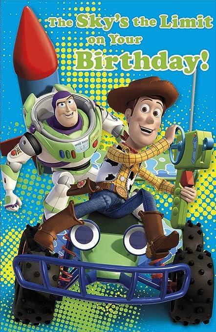 Amazon Disney Toy Story Buzz Lightyear Birthday Greeting Card