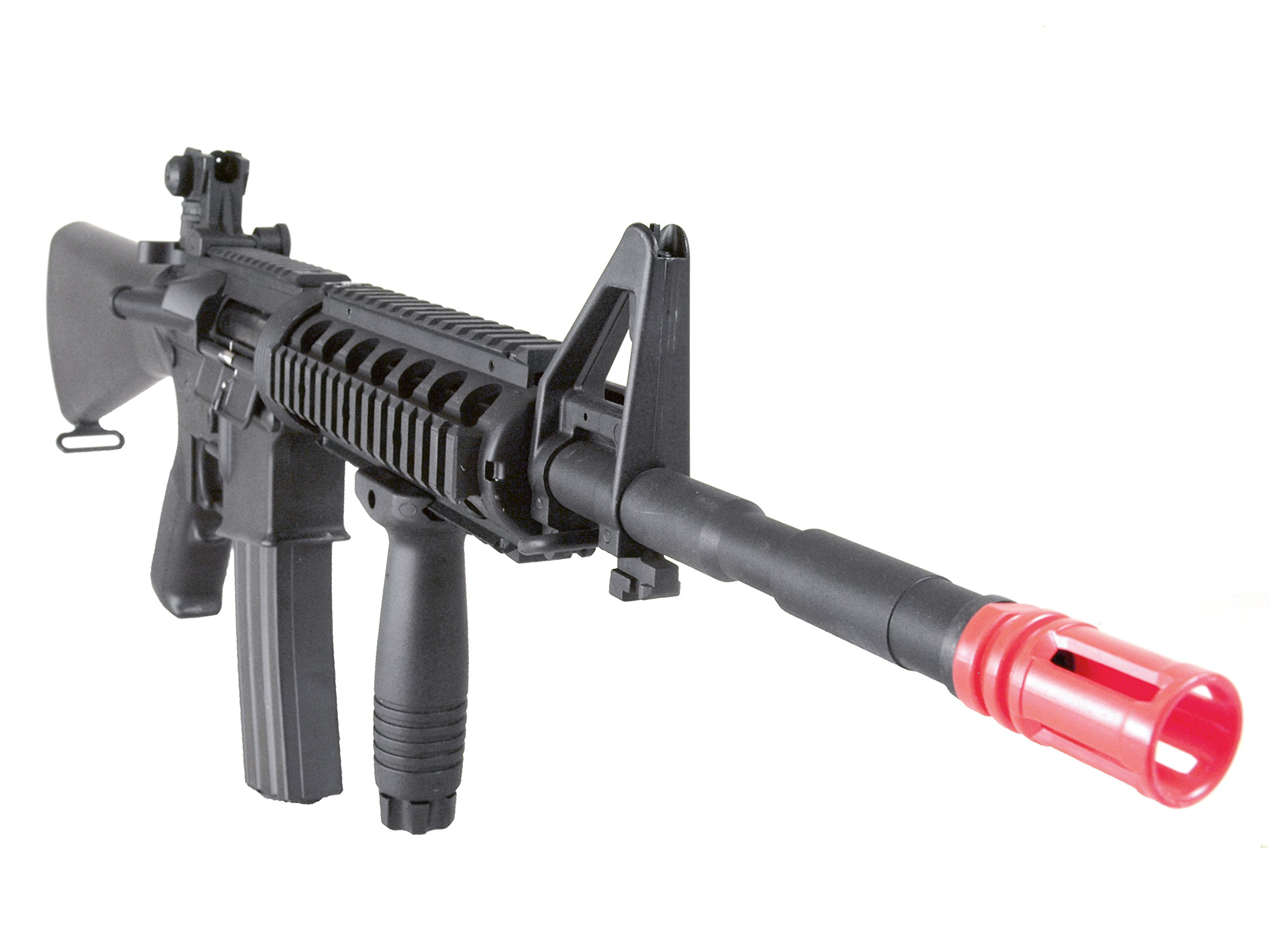 MetalTac Electric Airsoft Gun M4 SR16 Sniper A&K with ABS Body, Metal Gearbox Version 2, Full Auto AEG, Upgraded Powerful Spring 380 Fps with .20g BBs