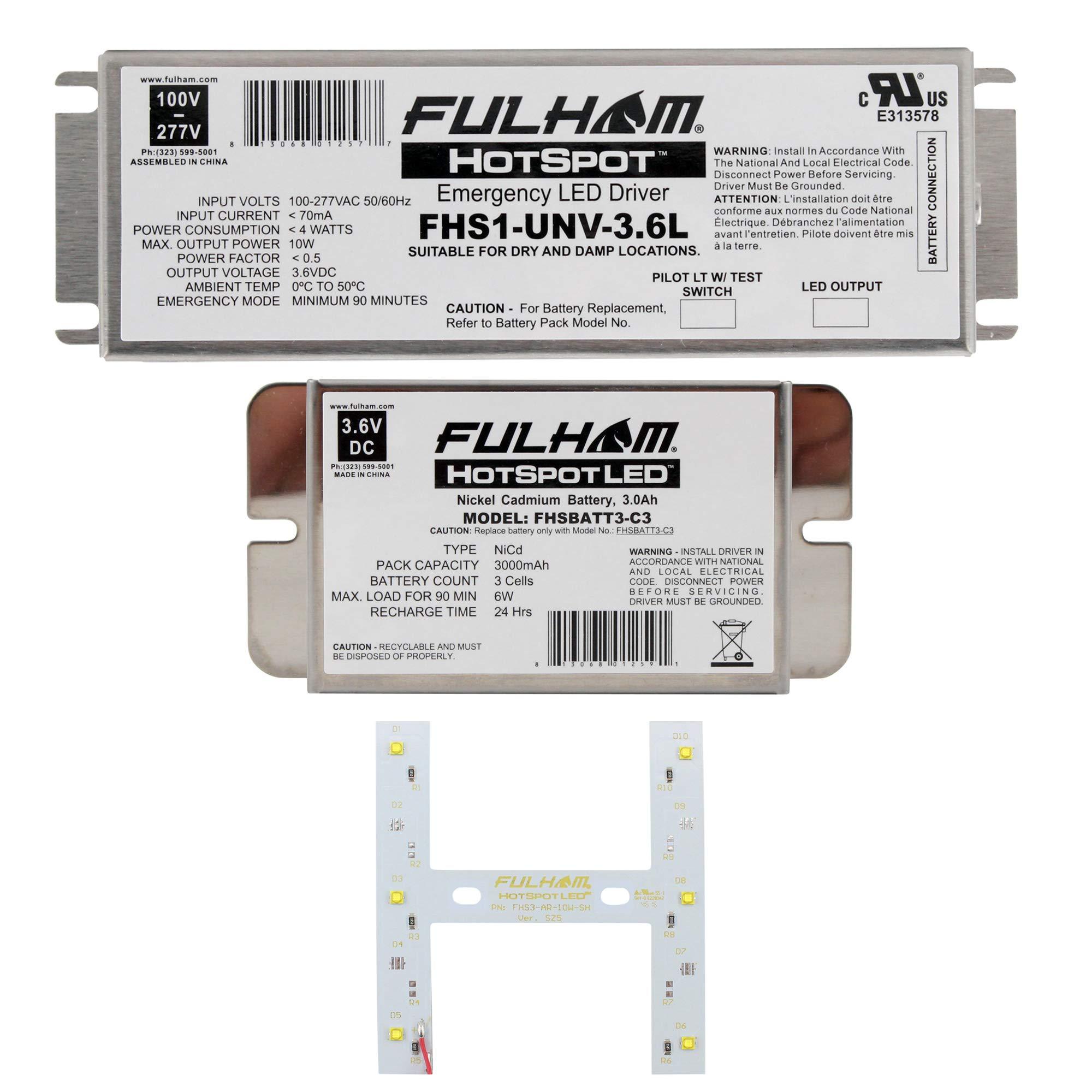 Fulham Lighting Fulham LED Emergency Battery Back Up Kit, FHSKITT06SHC