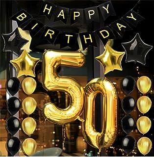 Amazoncom 50th BIRTHDAY PARTY DECORATIONS KIT Happy Birthday