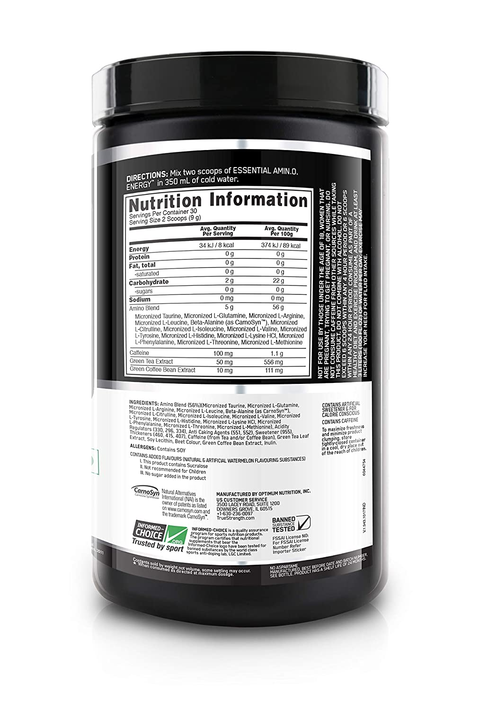 Amino Energy Drink – 30 Servings – Watermelon