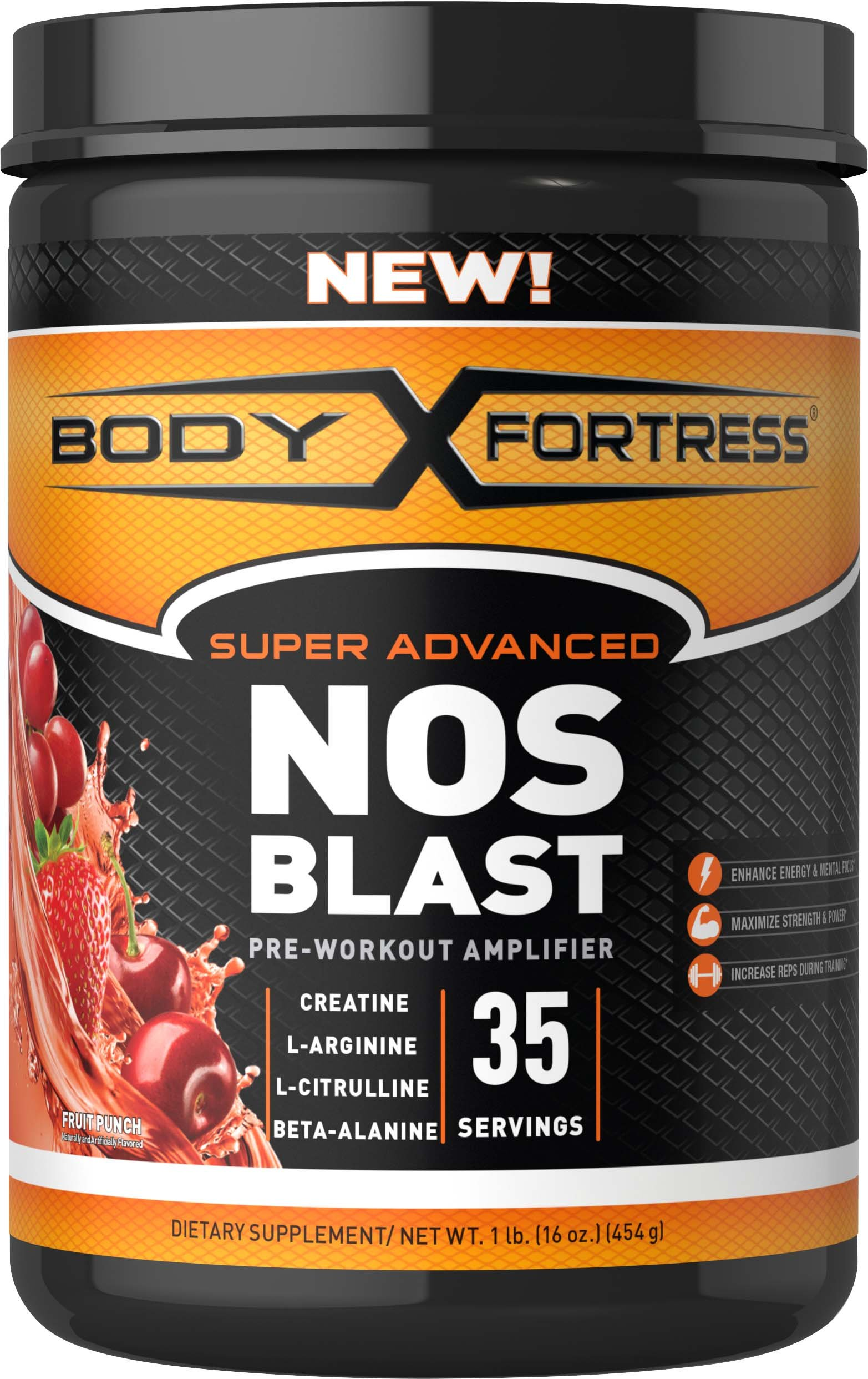 Body Fortress NOS Blast Pre Workout Amplifier by Body Fortress