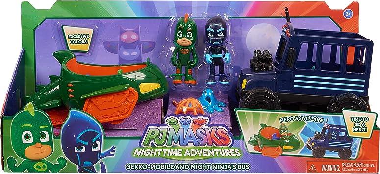 Amazon.com: PJ Masks Hero vs Villain Vehicles- Gekko y Ninja ...