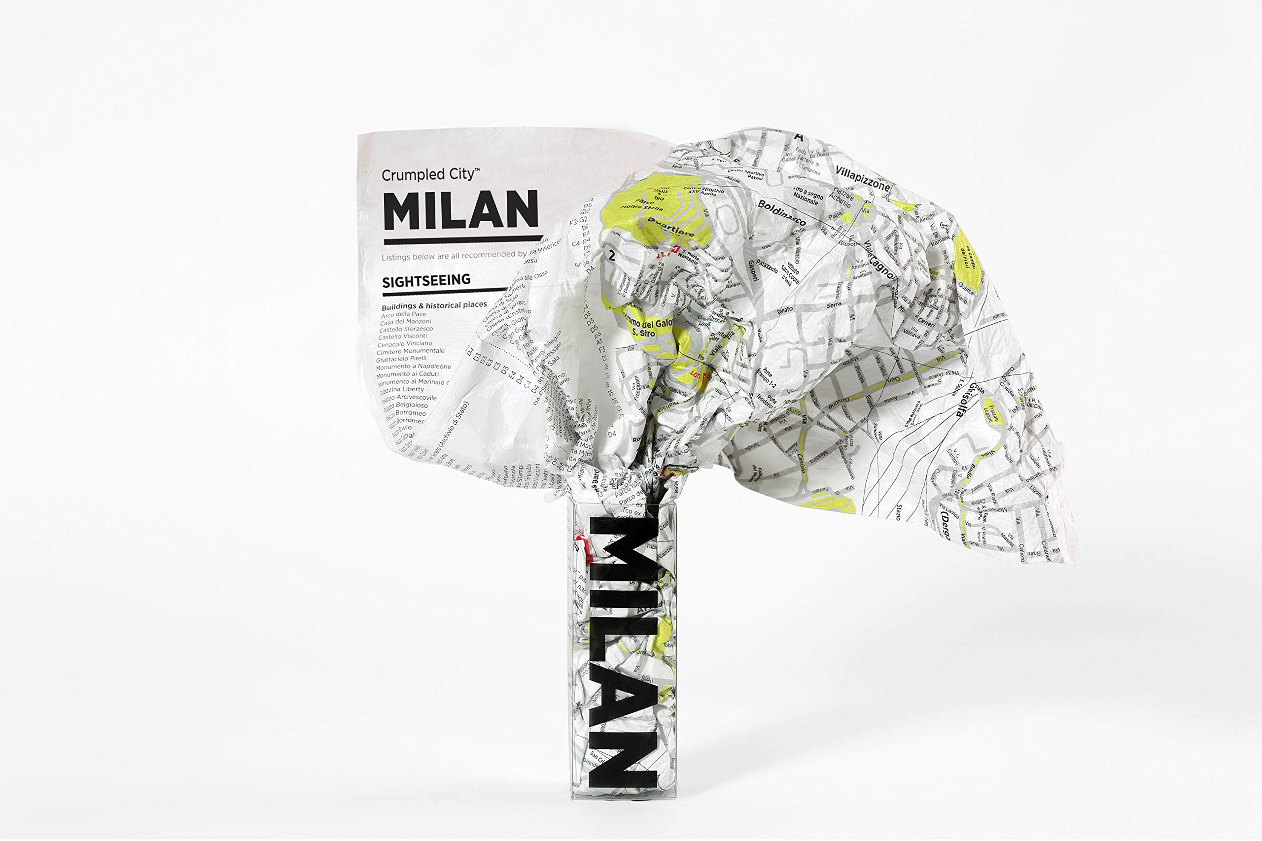 Crumpled City Map-Milan Map – January 1, 2011