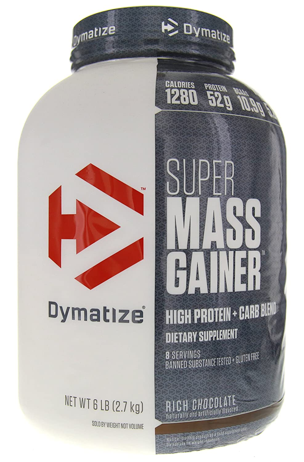 Dymatize Super Mass Gainer Protein Supplement with Digestive ...