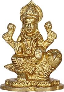 GURU JEE Brass Idol for Puja Room Decoration Owl Laxmi Murti Hindu Goddess Religious Gifts