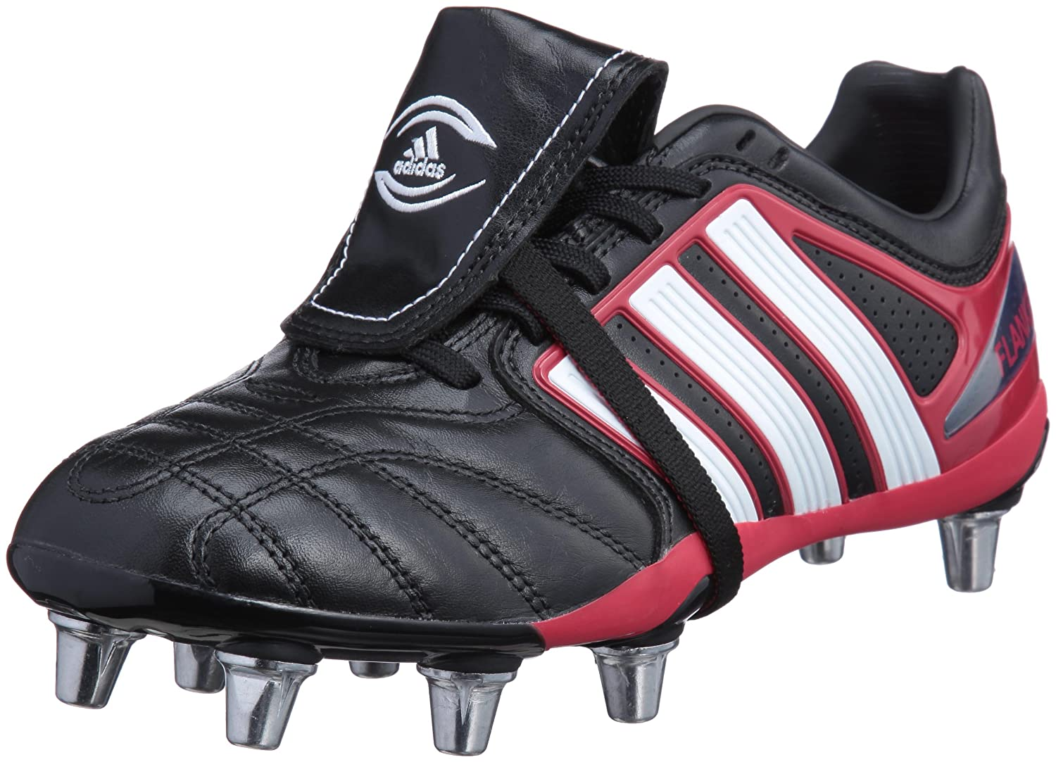more photos 6806c 3efa4 adidas Mens Mens Adipure Flanker Rugby Boots in Black-White - UK 10.5   Amazon.co.uk  Shoes   Bags