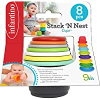 Infantino Stack'N Nest Cups - Multicolor ( Color may vary )