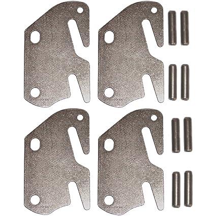 Amazon.com: Bed Rail Hook Plates - Double Hook Fits 2\