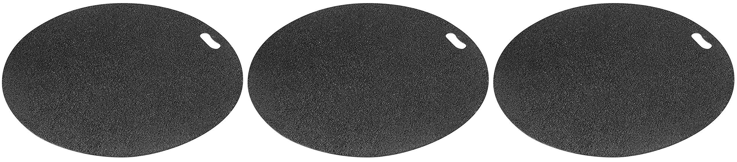 Diversitech Original Grill Mat - BBQ Floor Mat - Put Under Gas Grill, Fryer, Fire Pit - Protects Decks and Patios - 30 Inches - Round - Gray (Тhrее Расk) by Diversitech Original