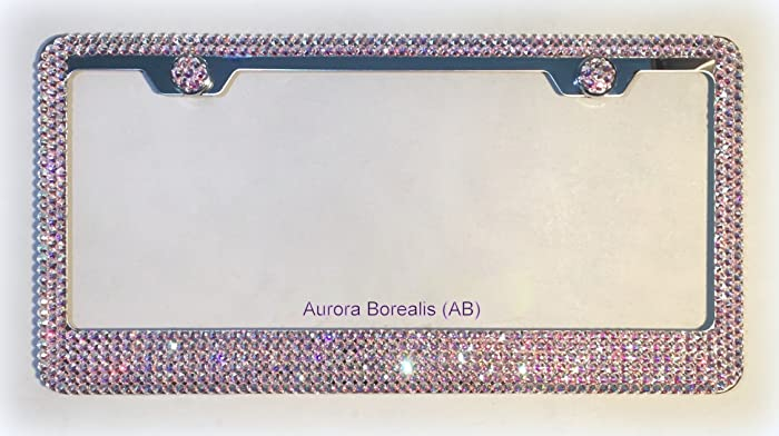 Amazon.com: License Plate Frame made with Aurora Borealis (AB ...