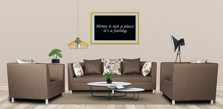 Adorn India Alica 3-1-1 5 Seater Sofa Set(Camel)
