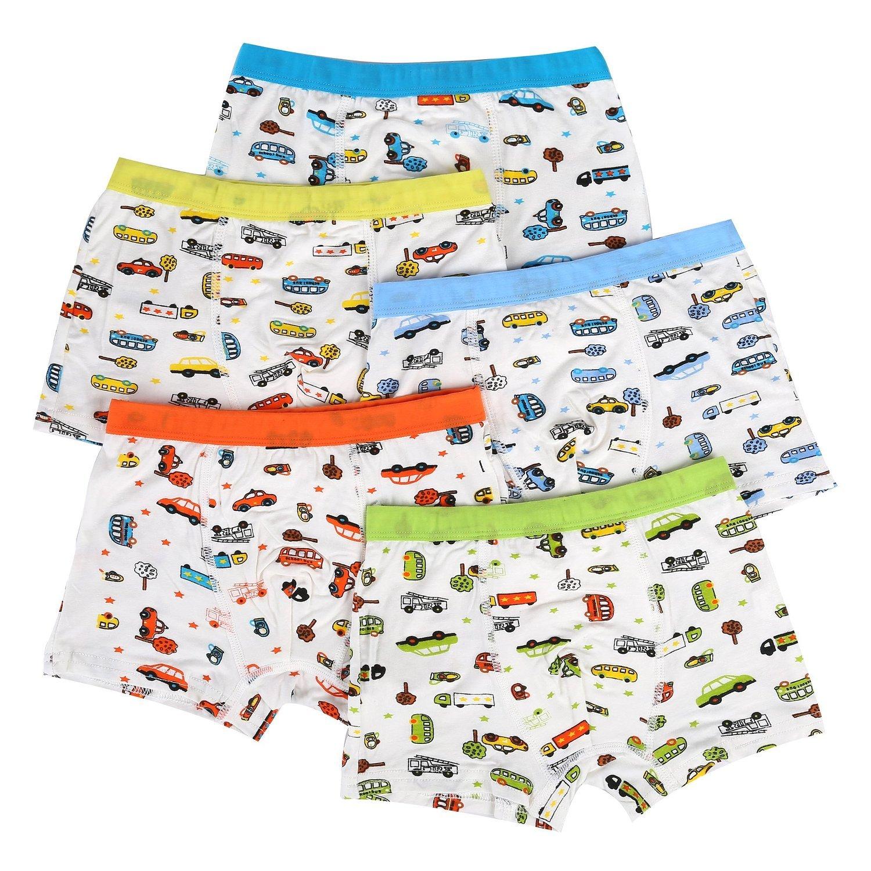 Bala Bala Boy's Boxer Brief Multicolor Underwear (Pack Of 5) (M/Car Underwear, (Pack Of 5)/Car Underwear) by Bala Bala (Image #1)