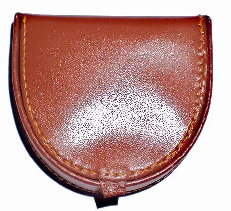 Monedero de cuero, diseño de media luna de inodoro: Amazon ...