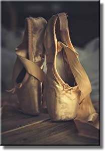 Ballet Shoes Picture on Stretched Canvas, Wall Art Décor, Ready to Hang