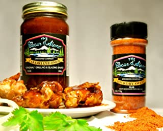 product image for The Coeur d'Alene Dressing Company - One Each 16 Ounce Jar Caramelized Onion Grill Sauce and 6 Ounce Jar Hickory Sweet Rub