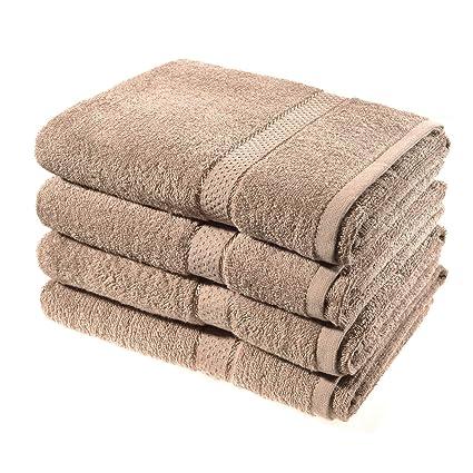 Juego de 4 toallas de baño de Asab, lisas, de lujo,