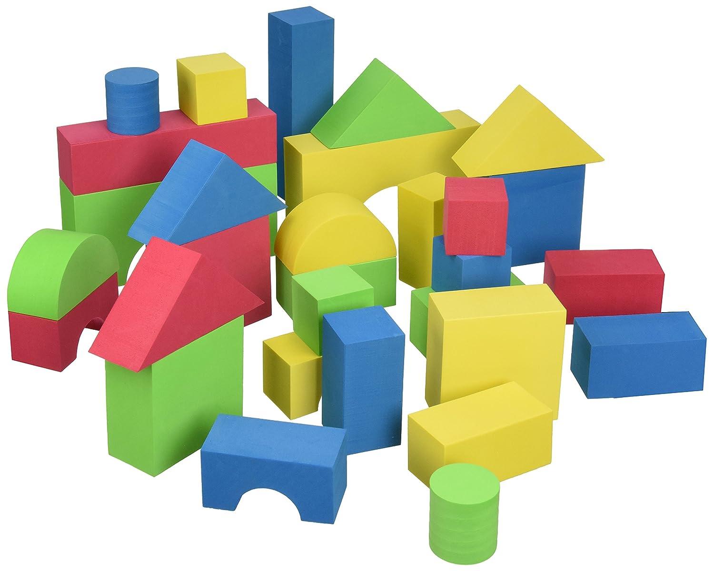 Edushape educolor building blocks set of 30 074994335592 for Foam blocks building construction