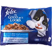 Purina Felix As Good as it Looks Salmon & Tuna Wet Cat Food Pouch, 100 gm - Pack of 4