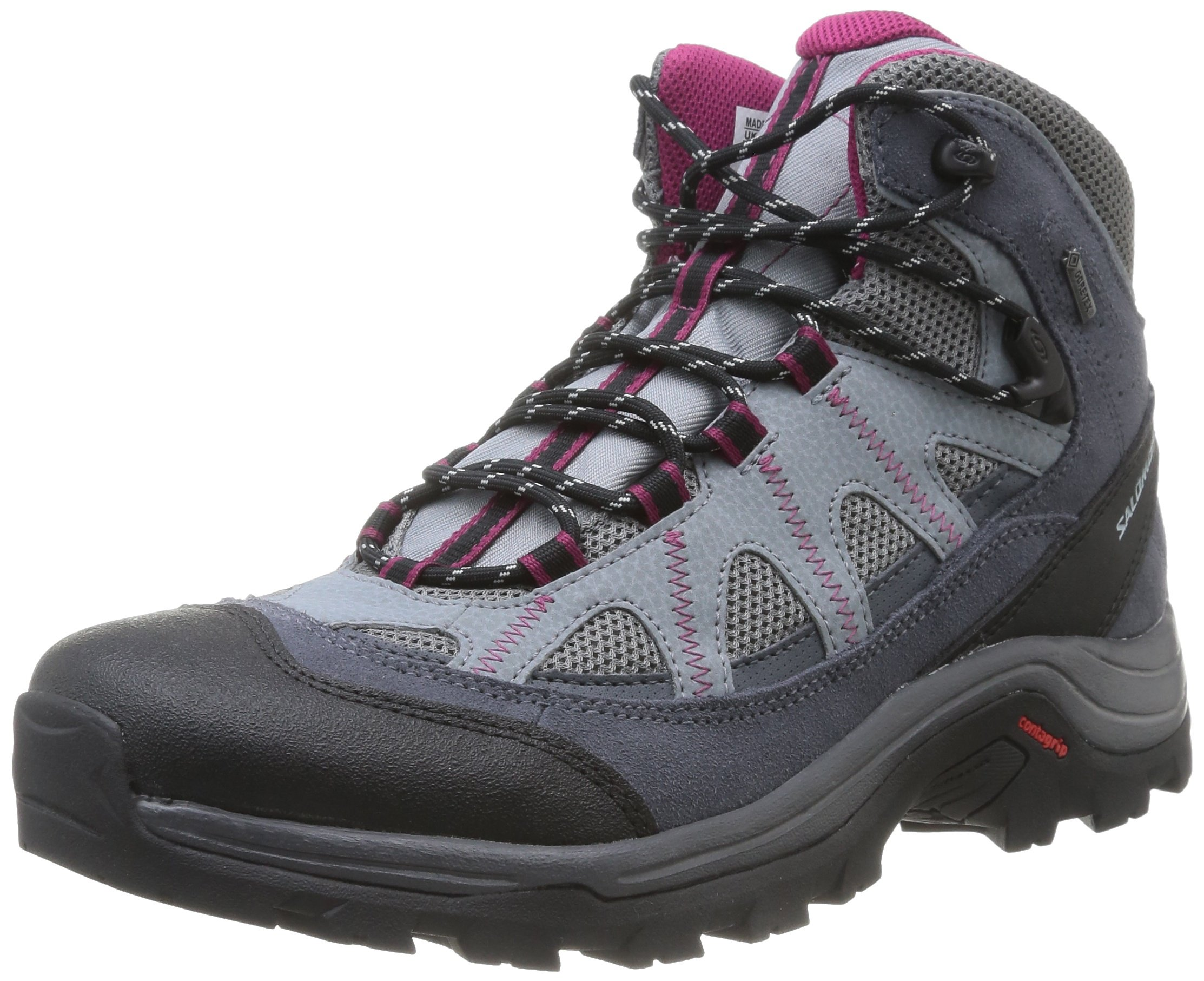 Salomon Women's Authentic Ltr Gtx W Backpacking Boot, Pearl Grey/Grey Denim/Mystic Purple, 8 M US